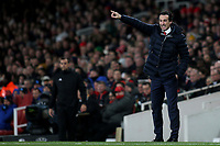 Arsenal Head Coach, Unai Emery during Arsenal vs Napoli, UEFA Europa League Football at the Emirates Stadium on 11th April 2019