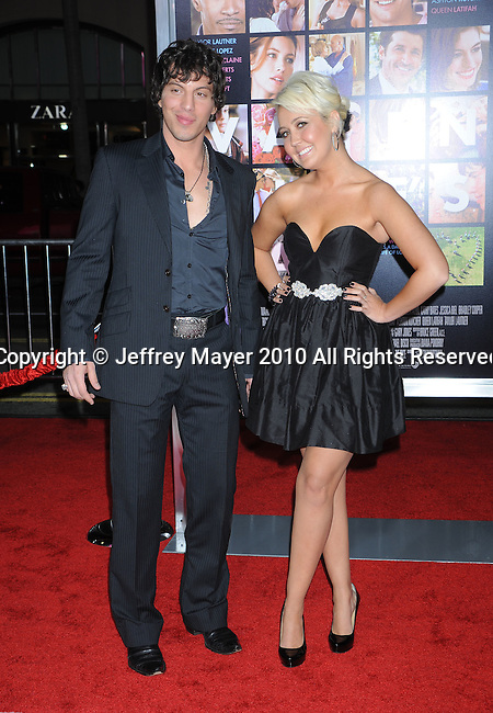 """HOLLYWOOD, CA. - February 08: Joshua Scott Jones, Meghan Linsey of Steel Magnolia arrive at the """"Valentine's Day"""" Los Angeles Premiere at Grauman's Chinese Theatre on February 8, 2010 in Hollywood, California."""