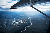 USA, Alaska, view of glacier valley and lakes, Denali National Park