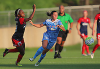 Boyds, MD - Saturday July 09, 2016: Francisca Ordega, Vanessa DiBernardo during a regular season National Women's Soccer League (NWSL) match between the Washington Spirit and the Chicago Red Stars at Maureen Hendricks Field, Maryland SoccerPlex.