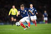 23rd March 2018, Hampden Park, Glasgow, Scotland; International Football Friendly, Scotland versus Costa Rica; Matt Ritchie of Scotland fires in a shot
