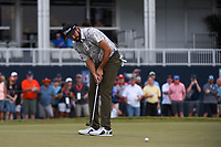 Cameron Tringale (USA) watches his putt on 18 during round 4 of the 2019 Houston Open, Golf Club of Houston, Houston, Texas, USA. 10/13/2019.<br /> Picture Ken Murray / Golffile.ie<br /> <br /> All photo usage must carry mandatory copyright credit (© Golffile | Ken Murray)