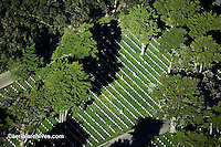 aerial photograph National Cemetery San Francisco California Presidio GGNRA