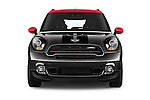 Car photography straight front view of a 2016 MINI Countryman JCW 5 Door Hatchback Front View
