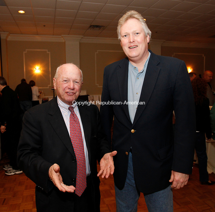 Waterbury, CT-25, March 2010-032510CM23 (L-R) Senator Joe Crisco, 17th District,  and Kevin Knowles attended the Blue Jeans Ball at the Villa Rosa in Waterbury.    --Christopher Massa Republican-American