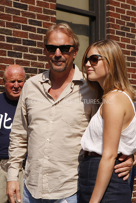 WWW.ACEPIXS.COM . . . . .  ....July 29 2008, New York City....Actor Kevin Costner and his daughter Lily Costner made an appearance on the 'Late Show with David Letterman' at the Ed Sullivan Theatre on July 29 2008 in New York City....Please byline: AJ Sokalner - ACEPIXS.COM..... *** ***..Ace Pictures, Inc:  ..te: (646) 769 0430..e-mail: info@acepixs.com..web: http://www.acepixs.com