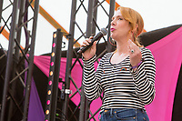 21st July 2019: Comedian Sara Barron plays the third day of the 2019 Latitude Festival 2019 at Henham Park, Suffolk.