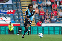 Sido Jombati of Wycombe Wanderers in action during the Sky Bet League 2 match between Wycombe Wanderers and York City at Adams Park, High Wycombe, England on 8 August 2015. Photo by Andy Rowland.