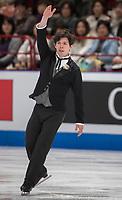 24th March 2018, Mediolanum Forum, Milan, Italy;  Keegan MESSING (CAN) during the ISU World Figure Skating Championships, Men Free Skating at Mediolanum Forum in Milan, Italy