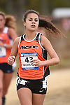 November 1, 2014; Sunnyvale, CA, USA; Pacific Tigers runner Grace McManus (43) competes during the WCC Cross Country Championships at Baylands Park.