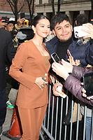 NEW YORK, NY - JANUARY 13: Selena Gomez seen exiting Live With Kelly & Ryan in New York City on January 13, 2020. <br /> CAP/MPI/EN<br /> ©EN/MPI/Capital Pictures