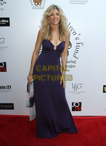 Marla Maples.Petit Ermitage Sponsors Launch of Louise Ashby Children's Fund.Held at LPB Malibu Beach House, Malibu, California, USA..August 21st, 2011.full length purple maxi dress.CAP/ADM/KB.©Kevan Brooks/AdMedia/Capital Pictures.