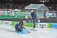 SCHAATSEN: AMSTERDAM: Olympisch Stadion, 02-03-2014, KPN NK Sprint/Allround, Coolste Baan van Nederland, tijdwaarneming, ©foto Martin de Jong