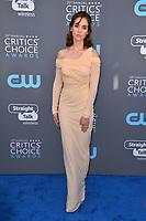 Alison Brie at the 23rd Annual Critics' Choice Awards at Barker Hangar, Santa Monica, USA 11 Jan. 2018<br /> Picture: Paul Smith/Featureflash/SilverHub 0208 004 5359 sales@silverhubmedia.com