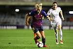 UEFA Women's Champions League 2018/2019.<br /> Quarter Finals.<br /> FC Barcelona vs LSK Kvinner FK: 3-0.<br /> Toni Duggan.
