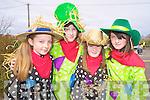 Colleen Murphy, Michaela Clifford, Ciara McGillycuddy and Niamh O'Connor enjoying the St Patricks Day parade in Glenbeigh on Thursday.