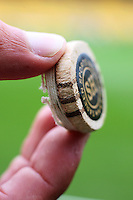 The tip of Gautim Gambhir's bat, which he cut short for the match during 2nd Twenty20 cricket match match between New Zealand Black Caps and West Indies at Westpac Stadium, Wellington, New Zealand on Friday, 27 February 2009. Photo: Dave Lintott / lintottphoto.co.nz
