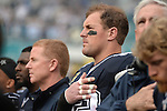 MIAMI GARDENS, FL - NOVEMBER 22:  Tight-End Jason Witten #82  of the Dallas Cowboys on the sidelines against the Miami Dolphins NFL game on November 22, 2015 at Sun Life Stadium in Miami Gardens, Florida. (Photo by Donald Miralle)