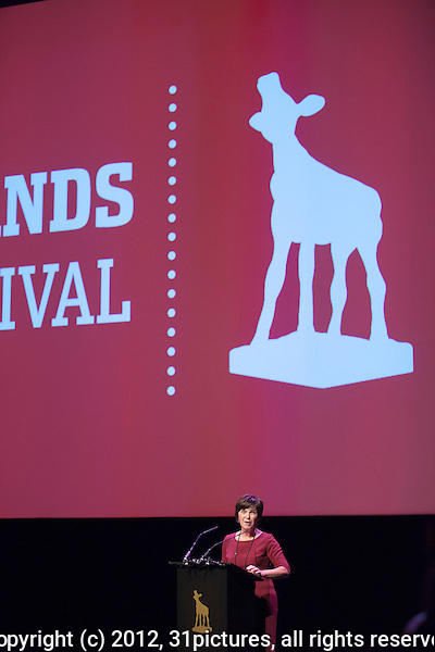 The Netherlands, Utrecht, 26 September 2012. The 32nd Netherlands Film Festival 2012 (Nederlands Film Festival, NFF), opening with Dutch feature film Nono, het Zigzag Kind. Introduction by festival director Willemien van Aalst. Photo: 31pictures.nl / (c) 2012, www.31pictures.nl