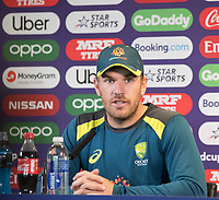 Aaron Finch (Australia) answers questions from the media during a Press Conference at Edgbaston Stadium on 10th July 2019