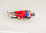 4 December 2015: David Gleirscher, sliding for Austria, enters a curve during his first run of the Viessmann Luge World Cup at the Olympic Sports Track in Lake Placid, New York, USA. Mandatory Credit: Ed Wolfstein Photo *** RAW (NEF) Image File Available ***