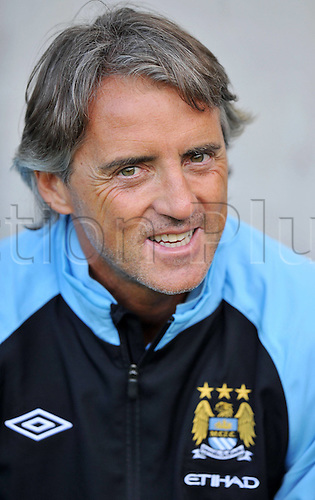 13.07.2012. Innsbruck, Austria. Manchester City vs Al Hilal friendly game in Innsbruck Austria  Picture shows team manager Roberto Mancini Man City
