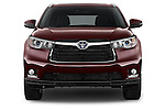 Car photography straight front view of a 2015 Toyota Highlander Limited Hybrid 4x4 5 Door SUV Front View