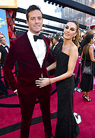 Armie Hammer, left, and Elizabeth Chambers arrive at the Oscars on Sunday, March 4, 2018, at the Dolby Theatre in Los Angeles. (Photo by Charles Sykes/Invision/AP)