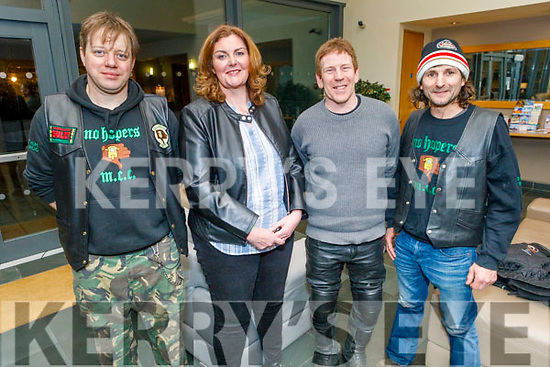 Joseph O'Carroll from Ballyduff with Maria and DJ Kissane and Aidan Goggin at the 30th Down and Out Rally No Hopers party in the Ballyroe Heights Hotel on Saturday.