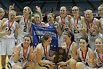 Bishop McGuinness celebrates their 7th-consecutive state title, a new state record, over Southside High School at the Dean Smith Center in Chapel Hill, NC, on Saturday, March 10, 2012.  Photo by Ted Richardson