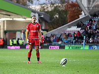 27th October 2019; Welford Road Stadium, Leicester, East Midlands, England; English Premiership Rugby, Tigers versus Saracens; Manu Vunipolai of Saracens converts Ben Earl try in the 77th minute  - Editorial Use