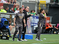 Leeds United manager Marcelo Bielsa shouts instructions from the technical area <br /> <br /> Photographer Ian Cook/CameraSport<br /> <br /> The EFL Sky Bet Championship - Bristol City v Leeds United - Sunday 4th August 2019 - Ashton Gate Stadium - Bristol<br /> <br /> World Copyright © 2019 CameraSport. All rights reserved. 43 Linden Ave. Countesthorpe. Leicester. England. LE8 5PG - Tel: +44 (0) 116 277 4147 - admin@camerasport.com - www.camerasport.com