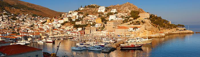 The historic port of Hydra, Greek Saronic Islands.