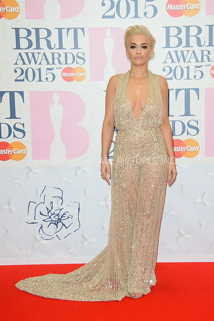 WWW.ACEPIXS.COM<br /> <br /> February 25 2015, London<br /> <br /> Rita Ora arriving at the Brit awards 2015 at the O2 Arena on February 25 2015 in London<br /> <br /> By Line: Famous/ACE Pictures<br /> <br /> <br /> ACE Pictures, Inc.<br /> tel: 646 769 0430<br /> Email: info@acepixs.com<br /> www.acepixs.com
