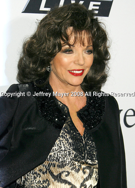 BEVERLY HILLS, CA. - February 07: Actress Joan Collins arrives at the 2009 GRAMMY Salute To Industry Icons honoring Clive Davis at the Beverly Hilton Hotel on February 7, 2009 in Beverly Hills, California.
