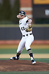 Wake Forest Demon Deacons starting pitcher Griffin Roberts (43) in action against the Florida State Seminoles at David F. Couch Ballpark on March 9, 2018 in  Winston-Salem, North Carolina.  The Seminoles defeated the Demon Deacons 7-3.  (Brian Westerholt/Sports On Film)