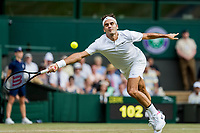 London, England, 6 th July, 2017, Tennis,  Wimbledon, Roger Federer (SUI)<br /> Photo: Henk Koster/tennisimages.com