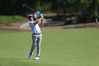 Christiaan Bezuidenhout (RSA) on the 1st fairway during the 3rd round of the DP World Tour Championship, Jumeirah Golf Estates, Dubai, United Arab Emirates. 23/11/2019<br /> Picture: Golffile | Fran Caffrey<br /> <br /> <br /> All photo usage must carry mandatory copyright credit (© Golffile | Fran Caffrey)