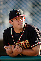 May 31 2009: Bruce Billings of the Modesto Nuts before game against the Lancaster JetHawks at Clear Channel Stadium in Lancaster,CA.  Photo by Larry Goren/Four Seam Images