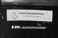 DarkStarVergnugen. A very excellent Bumper Sticker. In Shakedown Street after the second night with The Grateful Dead at Pine Knob Music Theatre, Clarkston, MI 20 June 1991