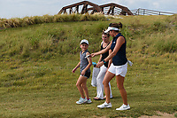 Gerina Piller (USA) gives a young fan her golf glove as they head down 2 during round 4 of the Volunteers of America Texas Classic, the Old American Golf Club, The Colony, Texas, USA. 10/6/2019.<br /> Picture: Golffile | Ken Murray<br /> <br /> <br /> All photo usage must carry mandatory copyright credit (© Golffile | Ken Murray)