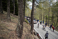 Tony Gallopin (FRA/AG2R-LaMondiale) & Hubert Dupont (FRA/AG2R-La Mondiale) up the Colle San Carlo (Cat1/1921m/10.1km/9.8%)<br /> <br /> Stage 14: Saint Vincent to Courmayeur/Skyway Monte Bianco (131km)<br /> 102nd Giro d'Italia 2019<br /> <br /> ©kramon