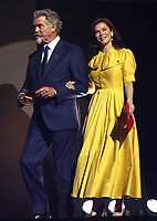 11/03/2020 - Pierce Brosnan and Anna Friel at The Princes Trust Awards 2020 At The London Palladium. Photo Credit: ALPR/AdMedia