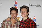 """As The World Turns Nick Adams """"Tony Pugliese"""" (Priscilla Queen of the Desert) poses with One Life To Live Jonathan Groff """"Henry"""" and Glee as they attend the 25th Annual Broadway Flea Market & Grand Auction to benefit Broadway Cares/Equity Fights Aids on September 25, 2011 in New York CIty, New York.  (Photo by Sue Coflin/Max Photos)"""