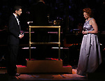Tony Yazbeck and Carolee Carmello during the Broadway Classics in Concert at Carnegie Hall on February 20, 2018 at Carnegie Hall in New York City.