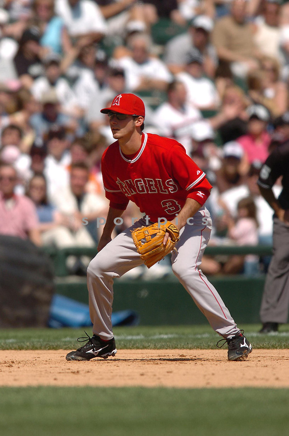 BRANDON WOOD, of the Los Angeles Angels, in action during the Angels game against the Chicago White Sox in Chicago, Illinois  on April 29, 2007....Angels win 5-2...DAVID DUROCHIK / SPORTPICS..