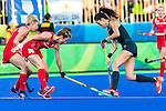 Naomi van As #18 of Netherlands is tackled by Shona Mccallin #24 of Great Britain during Netherlands vs Great Britain in the gold medal final at the Rio 2016 Olympics at the Olympic Hockey Centre in Rio de Janeiro, Brazil.