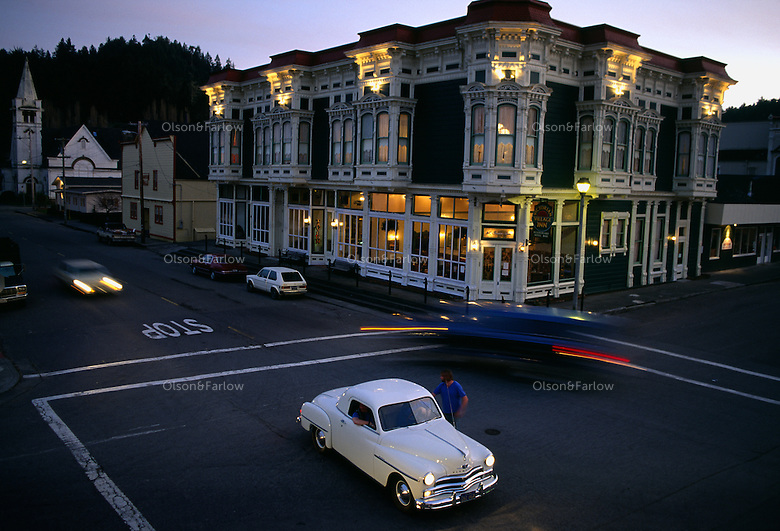 Ferndale, California is a small town in the northern part of the state that has a quaint, Victorian downtown where antique cars fit in. The rugged landscape surrounding the community has kept an authentic, Americana atmosphere that feels stopped in time.