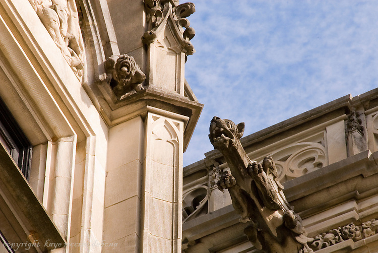 Biltmore Estate stone carvings and gargoyles