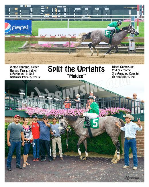Split The Uprights winning at Delaware Park on 7/27/17